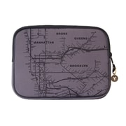 "New York City Subwayline Map Neoprene Sleeve for 13.9"" Laptops, Gray"
