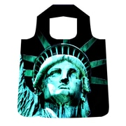 New York City Subwayline Statue of Liberty Shoppers Tote, Black