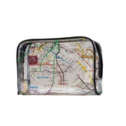 New York City Subwayline Clear Map Toiletries Case, Black