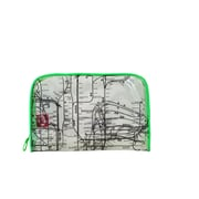 New York City Subwayline Clear Map Toiletries Case, Green