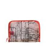 New York City Subwayline Clear Map Toiletries Case, Orange