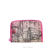 New York City Subwayline Clear Map Toiletries Case, Pink