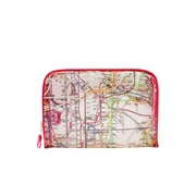 New York City Subwayline Clear Map Toiletries Case, Red