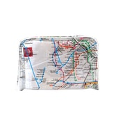 New York City Subwayline Clear Map Toiletries Case, White