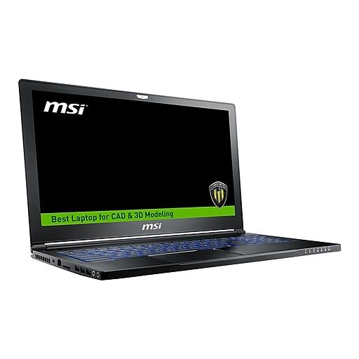 MSI WS63 8SJ 019 15.6  Mobile Workstation Laptop, Intel i7