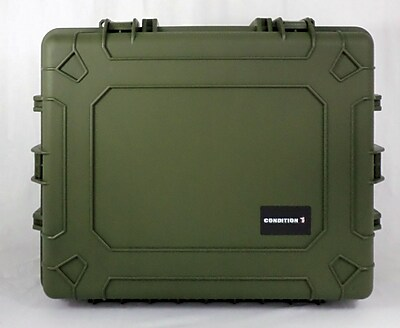 Condition 1 Airtight/Watertight Green Hard Plastic Protective Case (101024) 2432854