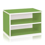 Way Basics Divider Blox 15 inch Eco Friendly Storage and Stackable Shelving Green (WB-DRECT-GN)