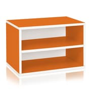 Way Basics Divider Blox 15 inch Eco Friendly Storage and Stackable Shelving Orange (WB-DRECT-OE)