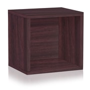 Way Basics Eco Stackable Connect Open Storage Cube and Cubby Organizer Espresso (C-OCUBE-EO)