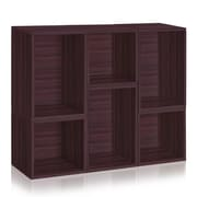 Way Basics Naples Storage Blox 6-Shelf 37.4 inch Eco Friendly Modular Shelving Espresso (WB-BLOX-3-EO)