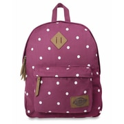 Dickies Classic Canvas Backpack, Wine Polka Dot (I-50092-559)