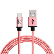 Rhino micro USB  Cable -6.6 Feet Rose Gold- Tough-Braided Extra-Strong Jacket - Sync/Charge,  5000+ Bend Lifespan  - 1PK