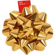 "JAM Paper® Gift Bows, Giant, 13"" Diameter, Gold, 6/carton"
