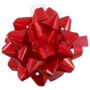 "JAM Paper® Gift Bows, Large, 8"" Diameter, Red, 12/carton"
