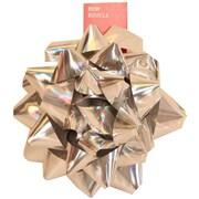 "JAM Paper® Gift Bows, Giant, 13"" Diameter, Silver, 6/carton"