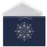 JAM Paper® Christmas Card Set, Shimmering Snowflake Holiday Cards, 16/pack