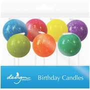 JAM Paper® Specialty Birthday Candles, Glitter Bombs Birthday Candle Set, 2 3/4 x 7/8, 7/pack