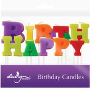 "JAM Paper® Specialty Birthday Candles, ' Happy Birthday ' Specialty Candle Set, 2 3/4"" x 1"", 13/pack"