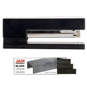 JAM Paper® Office & Desk Sets, Stapler Assortment, Black Stapler with Black Staples, 2/pack