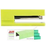 JAM Paper® Office & Desk Sets, (1) Stapler (1) Pack of Staples, Lime Green and Green, 2/pack