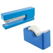 JAM Paper® Office & Desk Sets, (1) Stapler (1) Tape Dispenser, Blue, 2/pack
