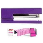 JAM Paper® Office & Desk Sets, (1) Stapler (1) Pack of Staples, Purple and Pink, 2/pack