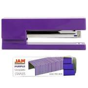 JAM Paper® Office & Desk Sets, (1) Stapler (1) Pack of Staples, Purple, 2/pack