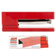 JAM Paper® Office & Desk Sets, (1) Stapler (1) Pack of Staples, Red, 2/pack