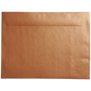 "JAM Paper® 9"" x 12"" Booklet Envelopes, Stardream Metallic Copper, 50/pack"