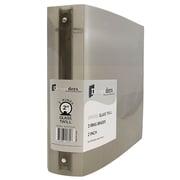 """JAM Paper® Plastic 3 Ring Binder, 2"""", Smoke Grey, Sold Individually"""
