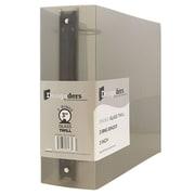 """JAM Paper® Plastic 3 Ring Binder, 3"""", Smoke Grey, Sold Individually"""