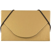 JAM Paper® Business Card Case, Matte Gold, Sold Individually