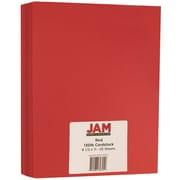 "JAM Paper® Matte Cardstock, 8.5"" x 11"", 130lb Red, 25/pack"