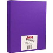 """JAM Paper® Matte Cardstock, 8.5"""" x 11"""", 130lb Electric Violet, 25/pack"""