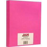 """JAM Paper® Matte Cardstock, 8.5"""" x 11"""", 130lb Magenta, 25/pack"""
