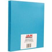 """JAM Paper® Matte Cardstock, 8.5"""" x 11"""", 130lb Peacock Blue, 25/pack"""