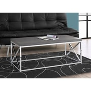 Monarch Coffee Table Grey with Chrome Metal (I 3225)