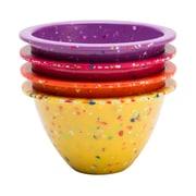Confetti 4-piece Recycled Plastic Prep Bowl Set - Sherbet
