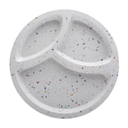Confetti Recycled Plastic Divided Salad Plate - White