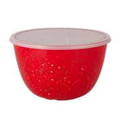 ZAK Designs Confetti Recycled Plastic 3qt Mixing Bowl with Cover - Red (0078-K460)