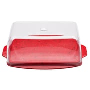 Sprinkles Recycled Plastic Butter Dish - Red