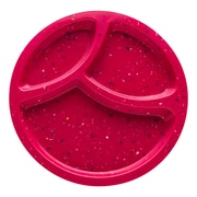 Confetti Recycled Plastic Divided Salad Plate - Berry