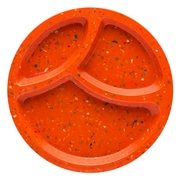 Confetti Recycled Plastic Divided Plate - Coral