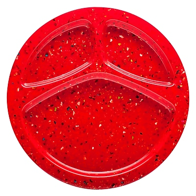 Confetti Recycled Plastic Divided Melamine Plate -