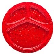 Confetti Recycled Plastic Divided Melamine Plate - Red