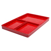 ZAK Designs Confetti 4-piece Recycled Plastic Modular Serving Tray Set - Red (0078-6890)