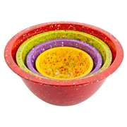 Confetti Recycled Plastic Mixing Bowl Set - Assorted Red