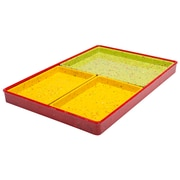 ZAK Designs Confetti 4-piece Recycled Plastic Serving Tray Set - Red (2084-6890)