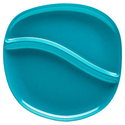 Biodegradable Divided Bamboo Plate - Azure