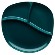 Moso Dishwasher-Safe Bamboo Divided Dinner Plate - Peacock